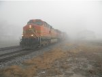 BNSF 5237 A SLOW FOGGY DAY AT RANSOM